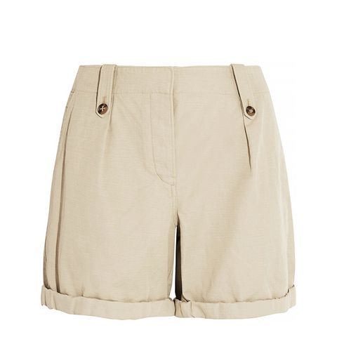 Cotton and Linen Blended Shorts
