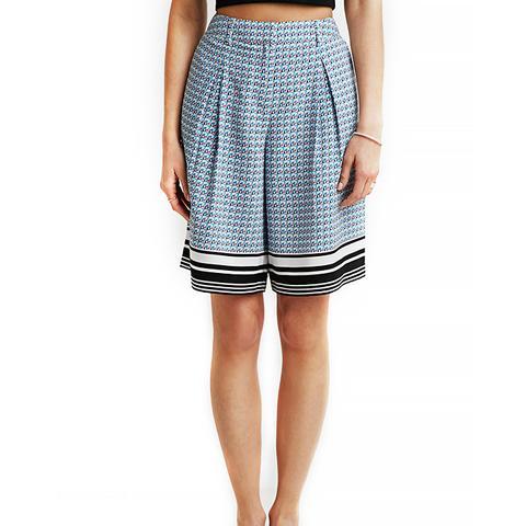 Scarf Print Culotte Shorts