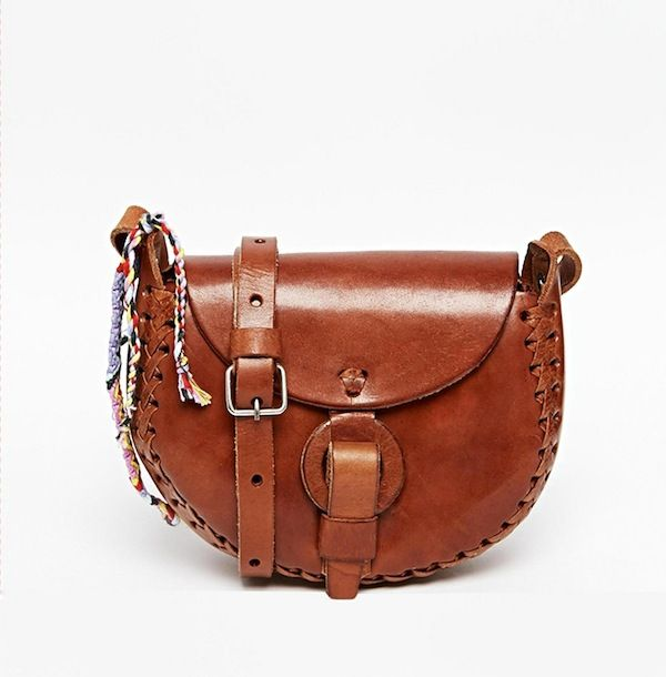 Hiptipico Leather Hand Crafted Half Moon Saddle Crossbody Bag