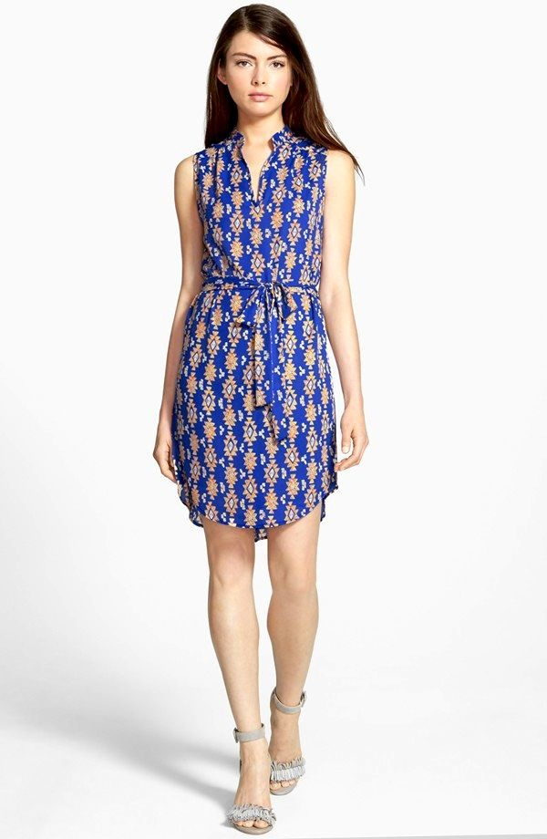 Ro & De Sleeveless Shirtdress