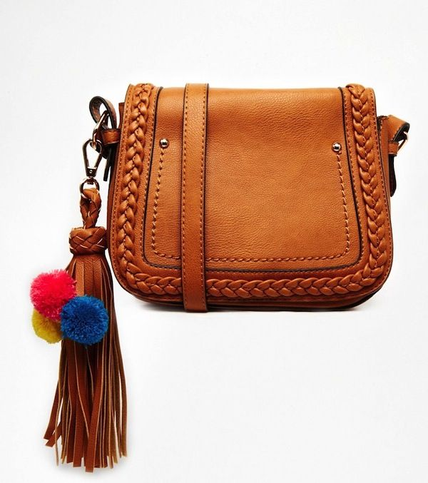 ALDO Crossbody with Braided Flap and Tassel
