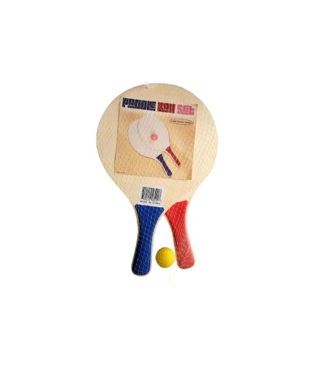 Trademark Innovations Wooden Paddle Beach Ball Game