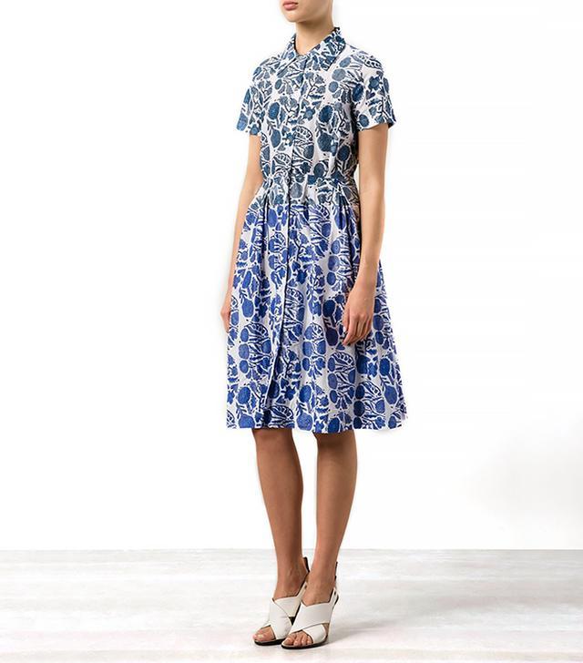 Dosa Floral Print Shirt Dress