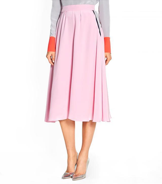 Roksanda Tilton Silk Crepe de Chine Midi Skirt