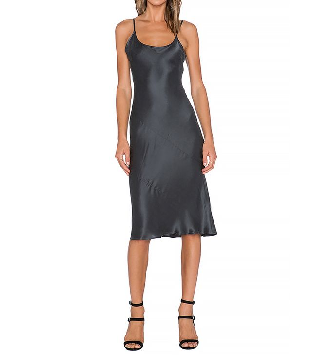 State of Being Paloma Slip Dress, Charcoal