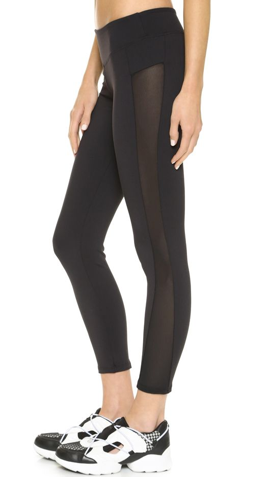 SOLOW Ankle Contrast Crop Leggings