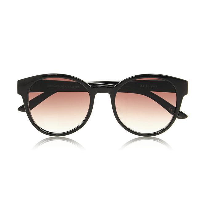 Le Specs Paramount Round-Grame Acetate Sunglasses