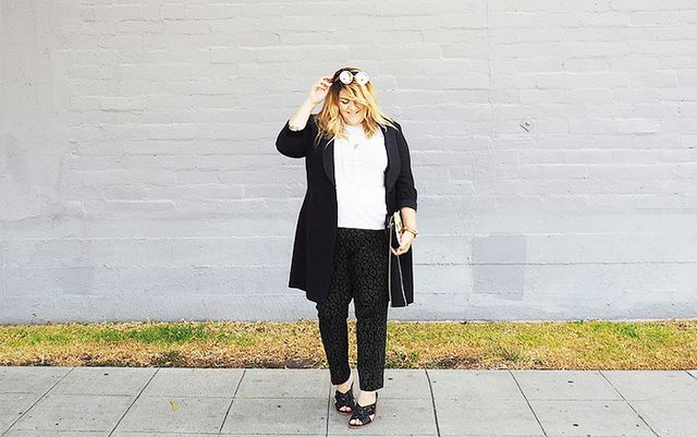 If you're ever in doubt this summer, just go for a black-and-white combo. The classic color duo is universally flattering, and the contrast ends up having a slimming effect.