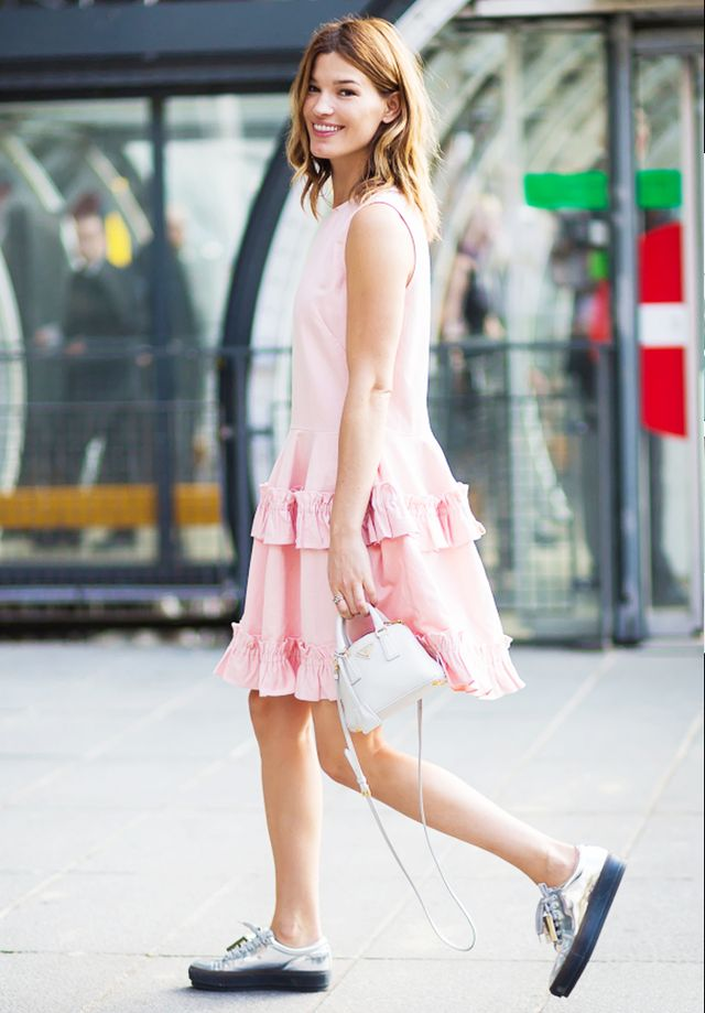 A sweet and easy wardrobe choice, a sundress with frilly details attracts the eye to the smallest part of your body—your waist.