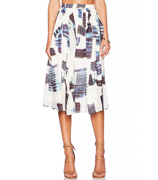 Tibi Origami Shirred Skirt