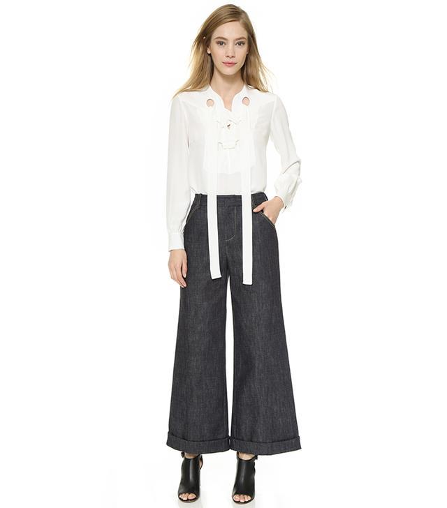 Derek Lam Gaucho Crop Jeans