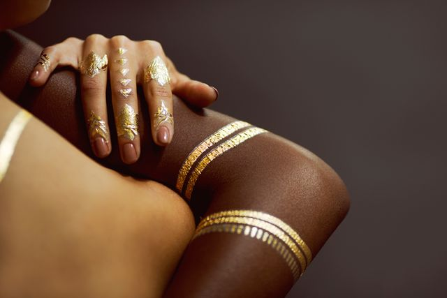 Rihanna x Jacquie Aiche Gold Temporary Tattoos