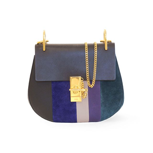 Chloé Drew Small Multi-Colors With Leather Stripes