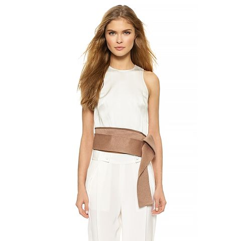 Judo Stitch Belted Crop Top