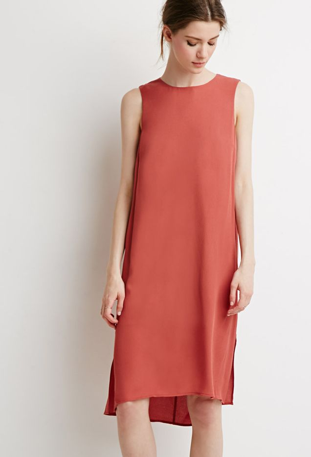 Forever 21 Sleeveless Midi Shift Dress