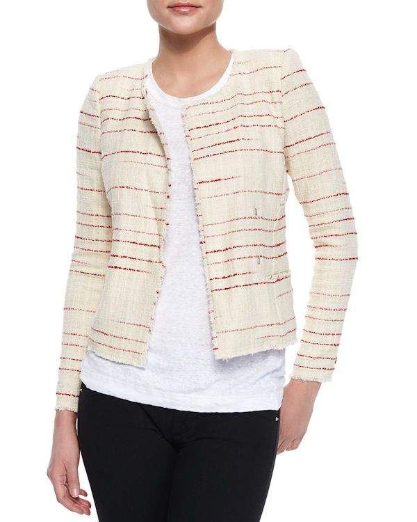 Isabel Marant Etoile Glenn Striped Tweed Jacket