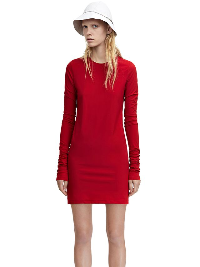 Acne Studios Nell Clean Lipstick Red Dress