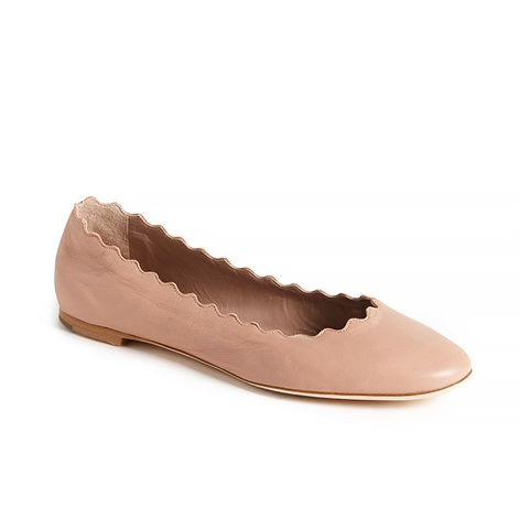 Lauren Scalloped Ballet Flat