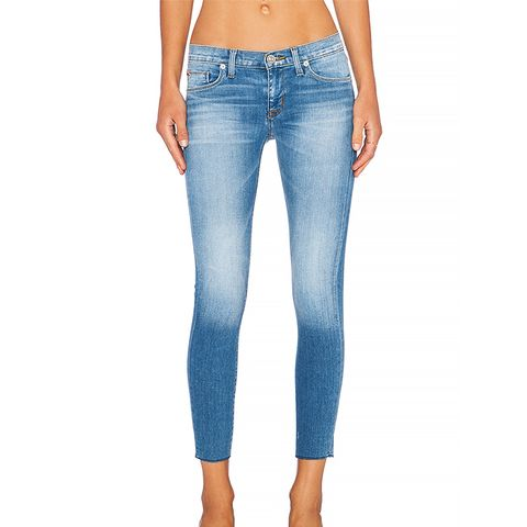 Krista Super Skinny Raw Hem Crop