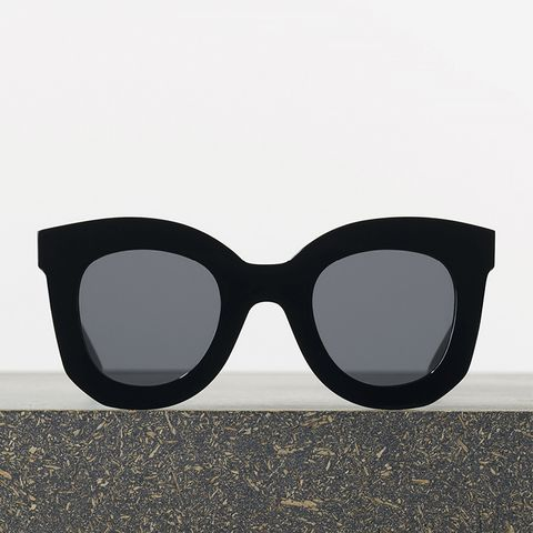 Marta Sunglasses, Black Acetate With Grey Lenses