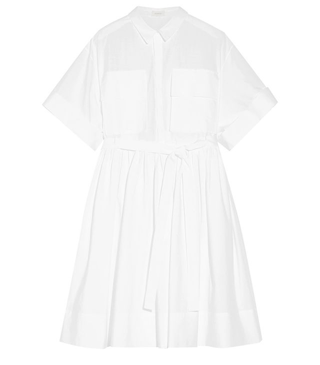 Delpozo Cotton-Poplin Shirt Dress