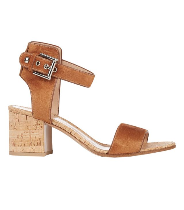 Gianvito Rossi Suede & Cork Ankle-Strap Sandals
