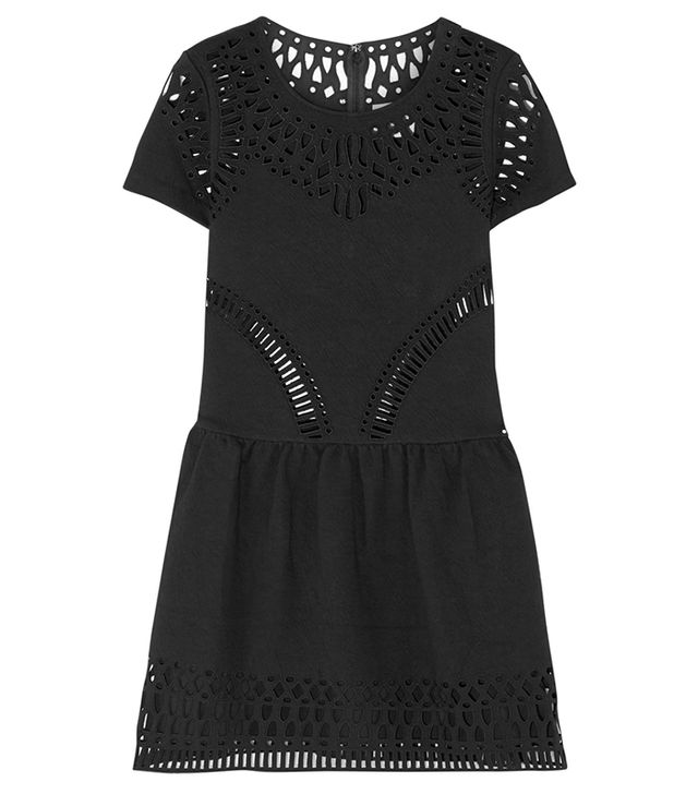 Sea Cutout Embroidered Stretch-Crepe Dress
