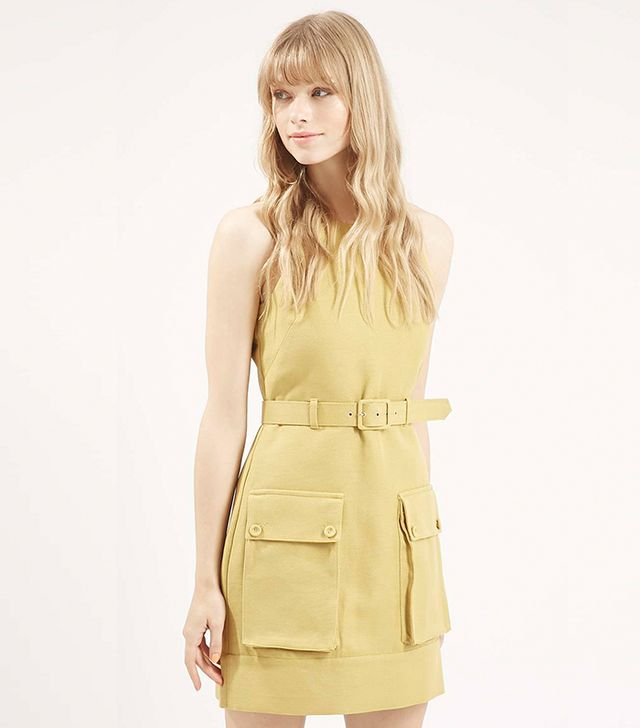Topshop Belted Utility Dress