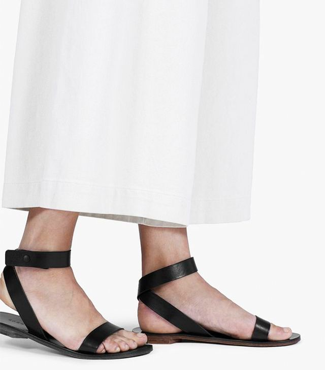 Everlane The Italian Ankle-Wrap Sandals