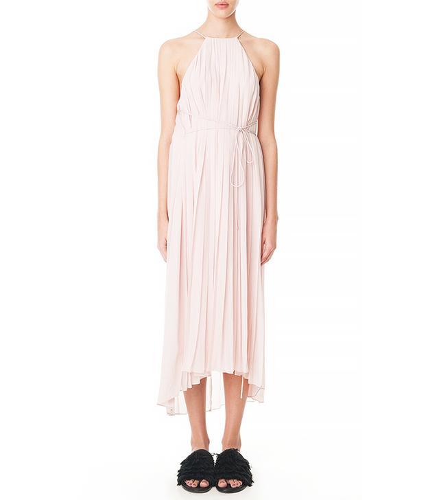 Tibi Simone Silk Pleated Midi Dress