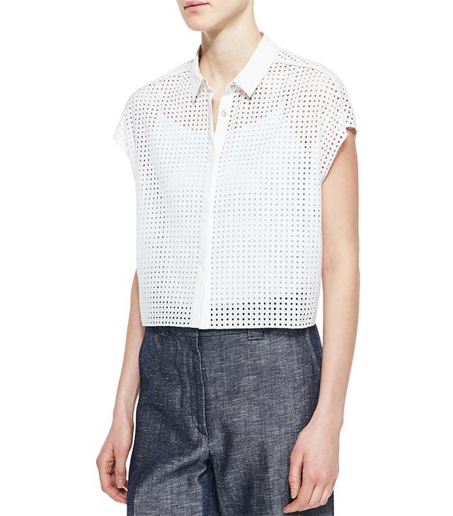 Rag & Bone Lakewood Short-Sleeve Perforated Shirt