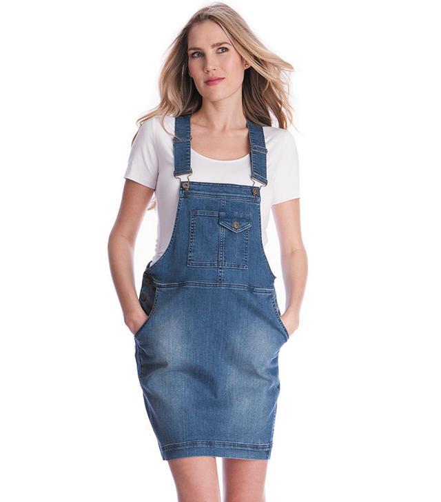 Seraphine Overall Denim Maternity Dress