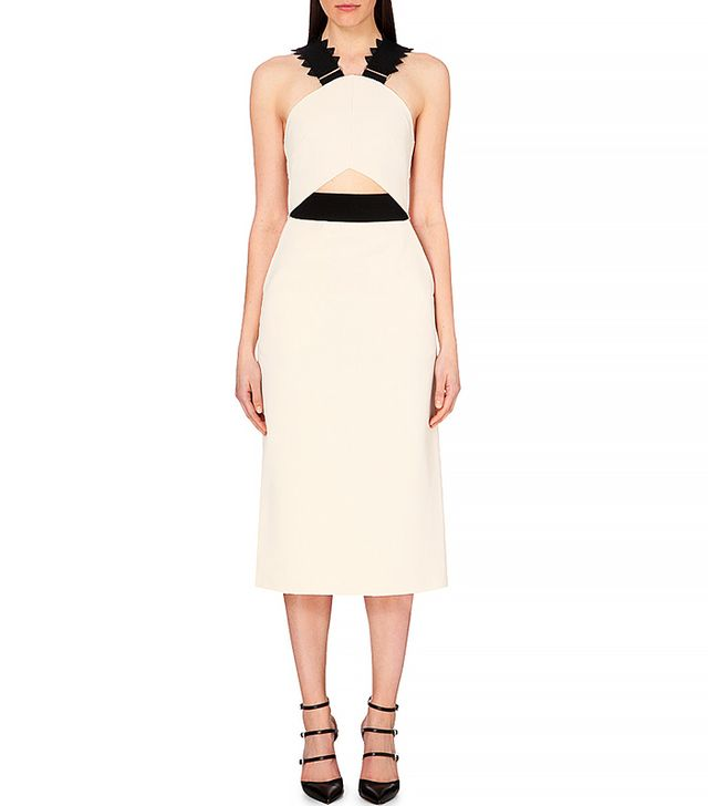 Self Portrait Cut-Out Crepe Dress