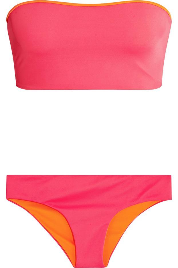 Melissa Odabash Malaga Neon Reversible Bandeau Bikini
