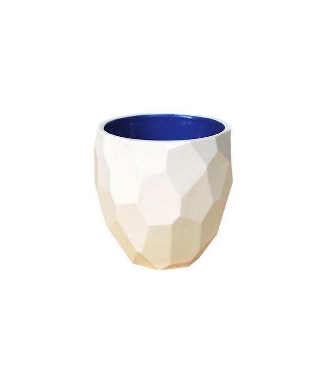 Faceted Modern Porcelain Mug
