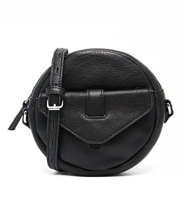 Selected Leather Round Crossbody Bag
