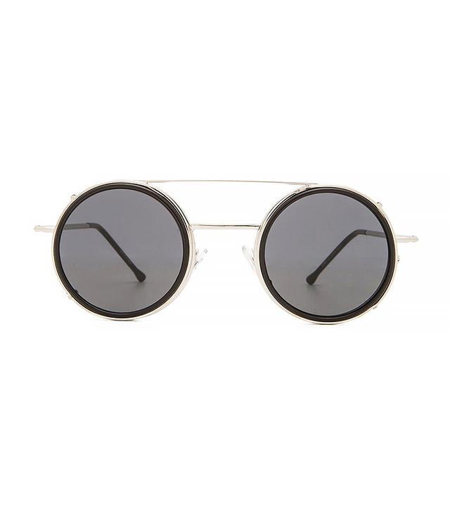 Spitfire Sonic Sunglasses in Silver & Black