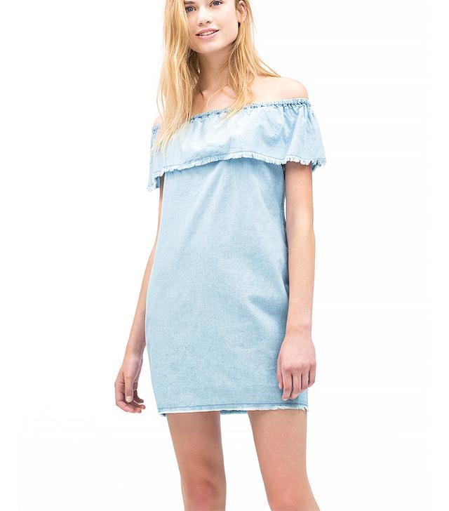 Zara Chambray Dress with Frills