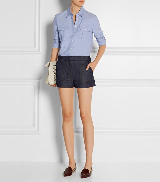 Victoria Beckham Denim Stretch-Denim Shorts