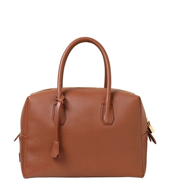 MCM Munich Leather Top Handle Bag