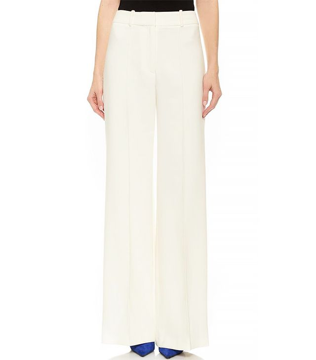 Milly Hayden Wide Leg Pintuck Trousers
