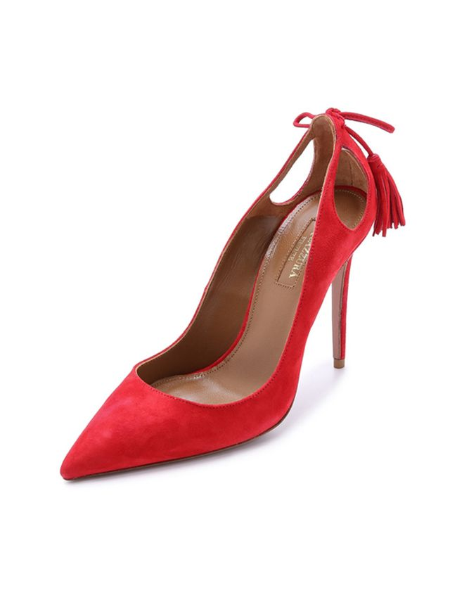 Aquazzura Forever Marilyn Tassle Pumps