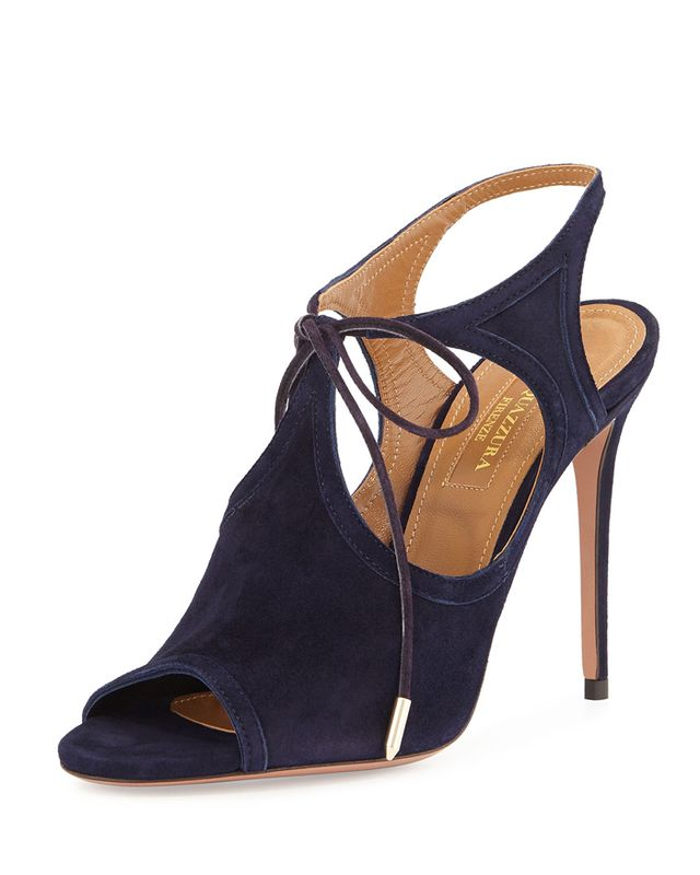 Aquazzura Joanna Cutout Wrap-Around Ankle Booties