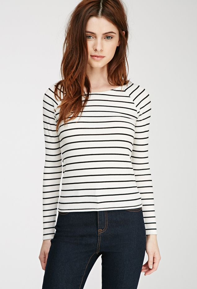 Forever 21 Striped Raglan Top