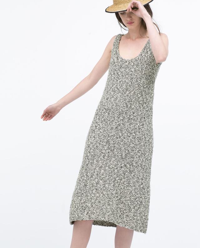 Zara Fancy Knit Sleeveless Dress