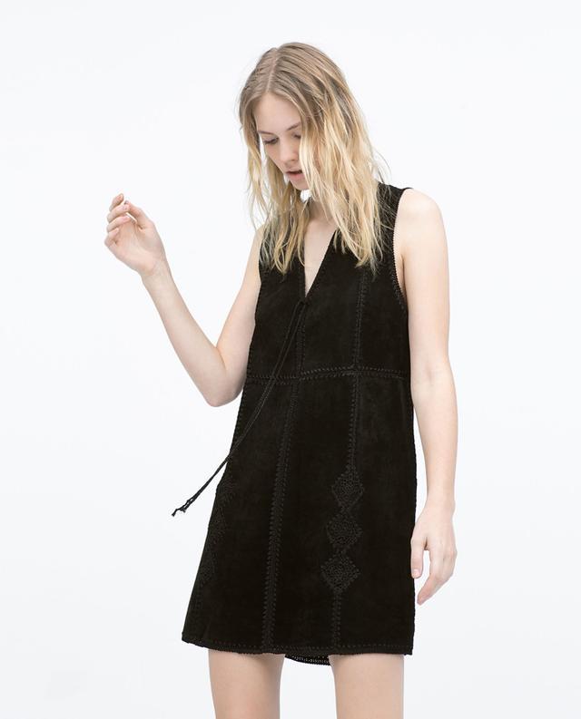 Zara Studio Leather Dress