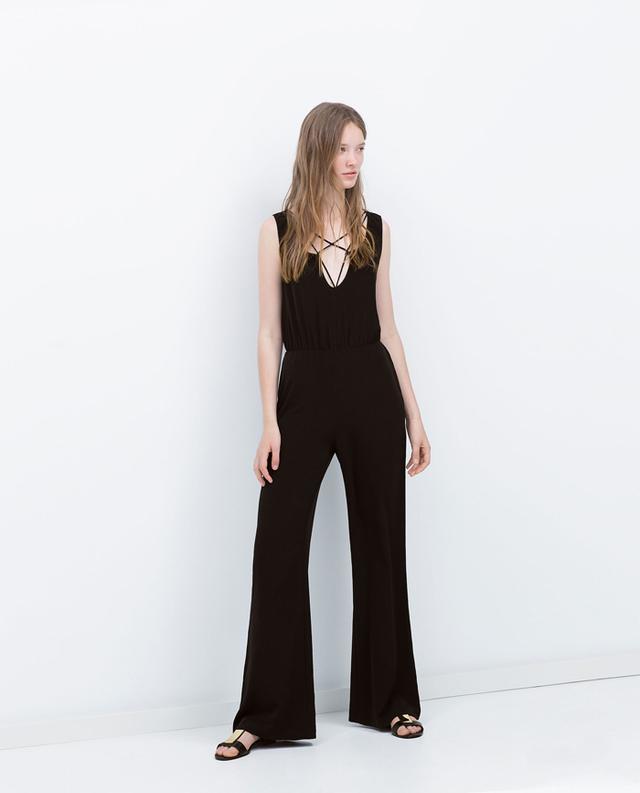 Zara Crossed Strap Jumpsuit