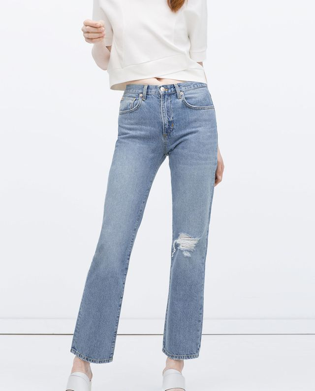 Zara Straight Cut High Waist Jeans