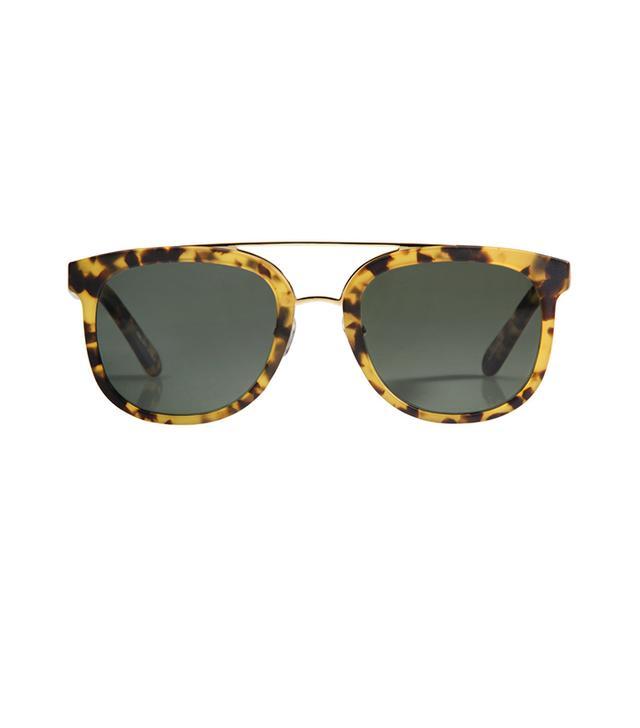 Krewe Matte Osaka Tortoise Polarized Sunglasses