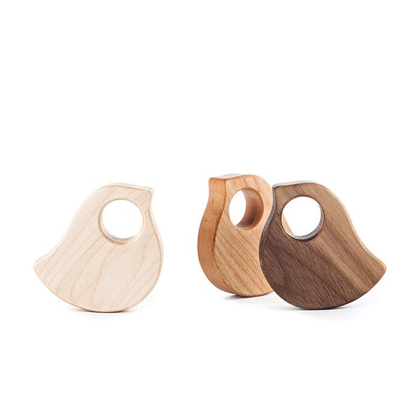 Manzanita Kids Bird Rattle in Natural Wood